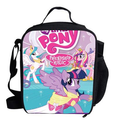 Милый комикс мешок мой маленький Pony холодильная камера обед мешок для детей изолированный ...