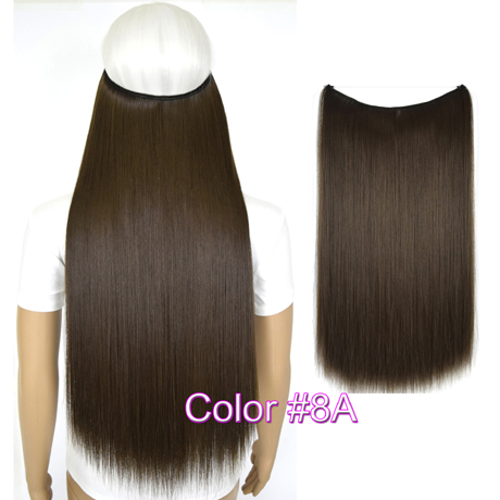 """Верхние термостойкие B5 синтетические волосы 20 """"50 см 50 г эластичность невидимая 8A"""