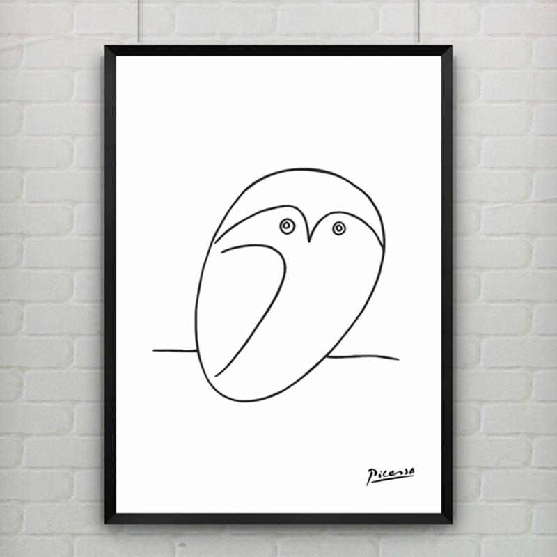 Drawing Smooth Lines Canvas : Compra picasso abstracta online al por mayor de china
