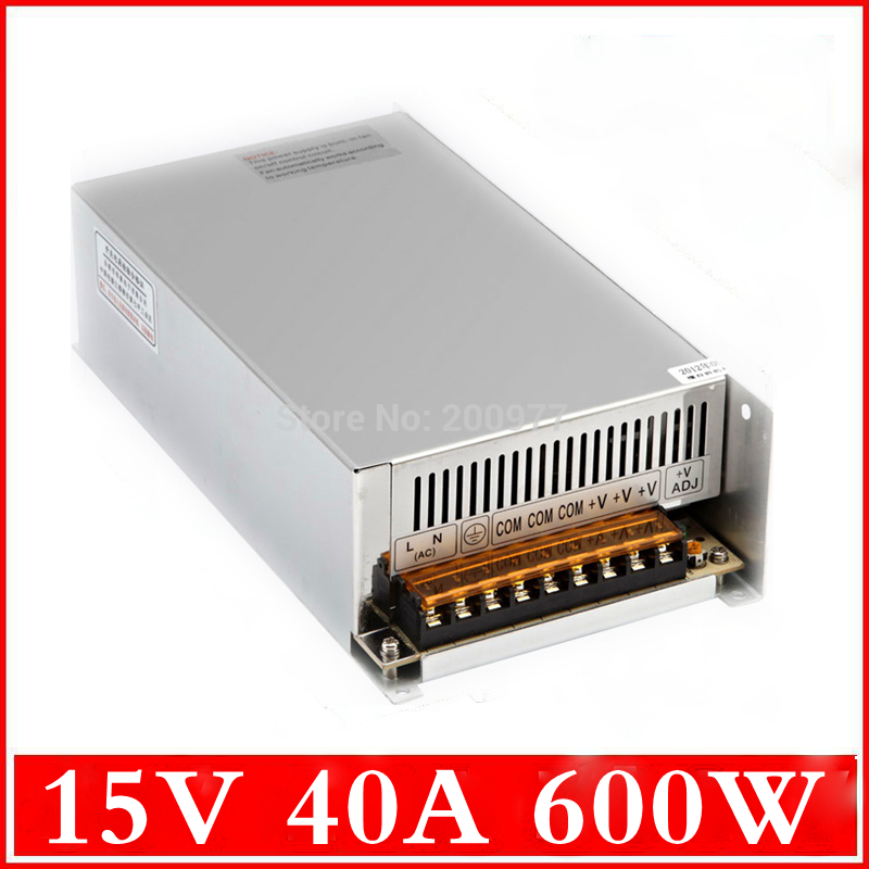(S-600-15) 24 mounth warranty electronic driver 110/220VAC input DC 15 volt 600w switching power supply<br><br>Aliexpress