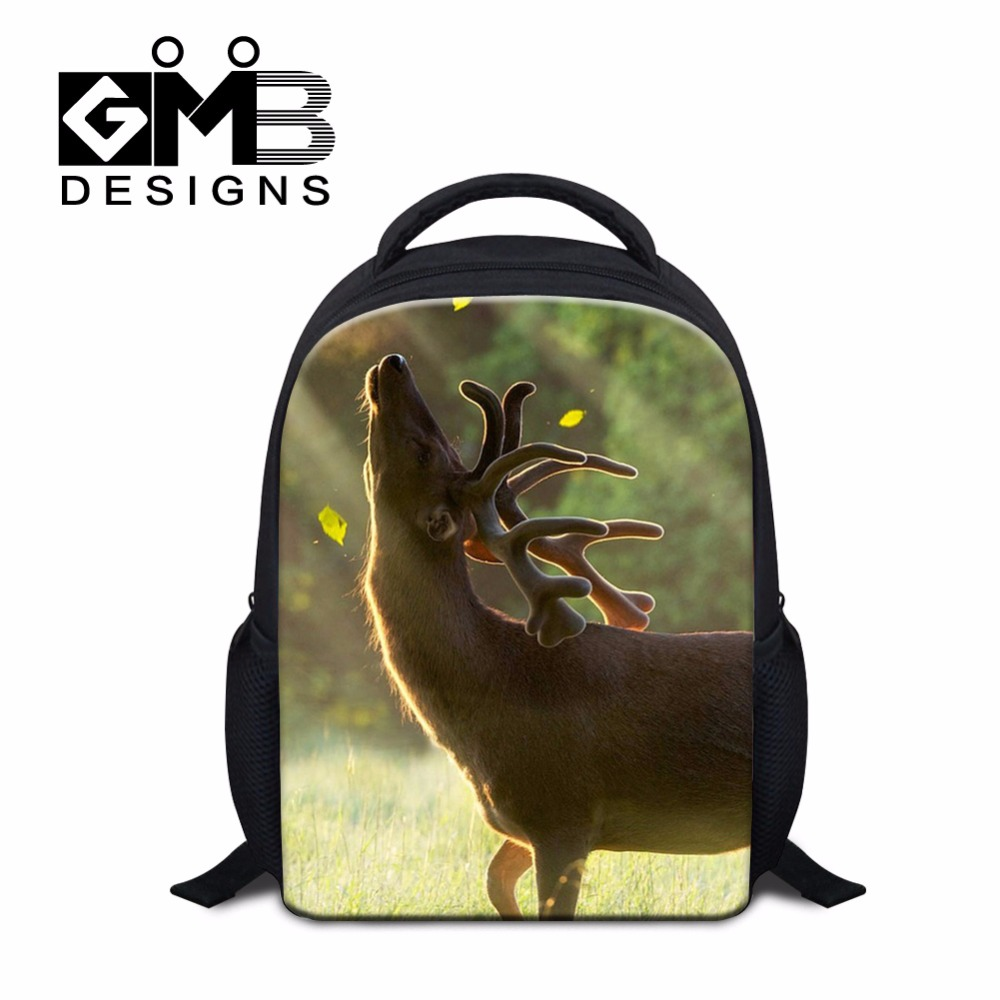 Latest Design School Backpacks for Children Kids Small Schoolbag Bookbag for Girls Boys Animal Elk Shoulder Mochilas Back pack(China (Mainland))