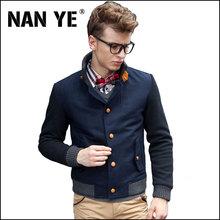2015 New Fashion England Style Men Woolen Jacket Winter Jackets High Quality Slim Stand Collar Warm Coat  NYJ004(China (Mainland))