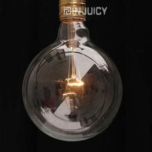 4PCS G125 RH LOFT E27 Vintage Edison bulb ball Lamp Light 40W clear glass transparent  retro bar Cafe shop Halogen(China (Mainland))