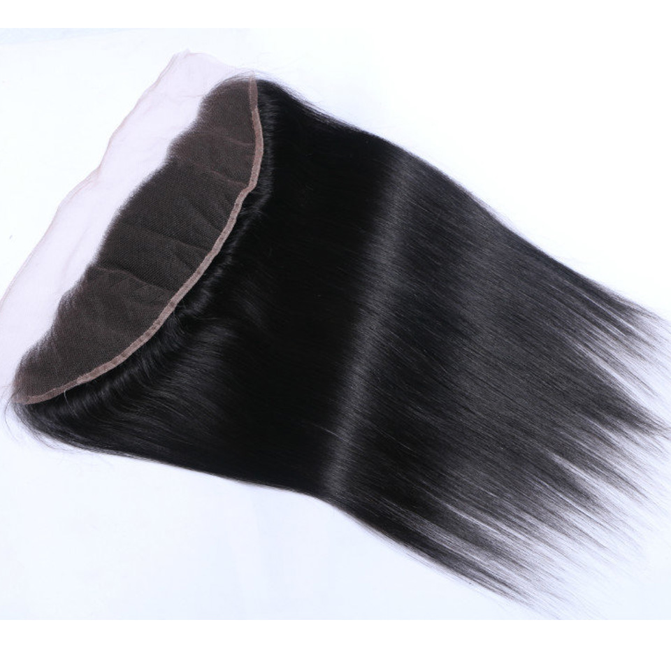 Thick and soft Frontal 7A Brazilian Straight Lace Frontal Closure With Baby Hair 13X4 Virgin Human Hair Lace Frontal Closure<br><br>Aliexpress