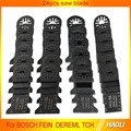 24 pcs multimaster tool accessories saw blade for Fein oscillating tool for nail steel tile cement