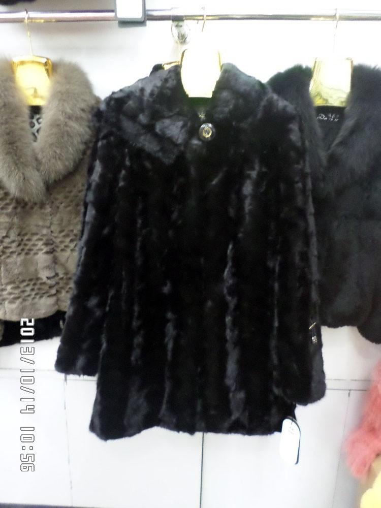 Mink coat black