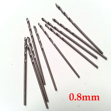 10 Pcs 0.8mm Micro HSS Straight Shank High Speed Steel Mini Twist Drill Bits Electric Drill  Power Tools