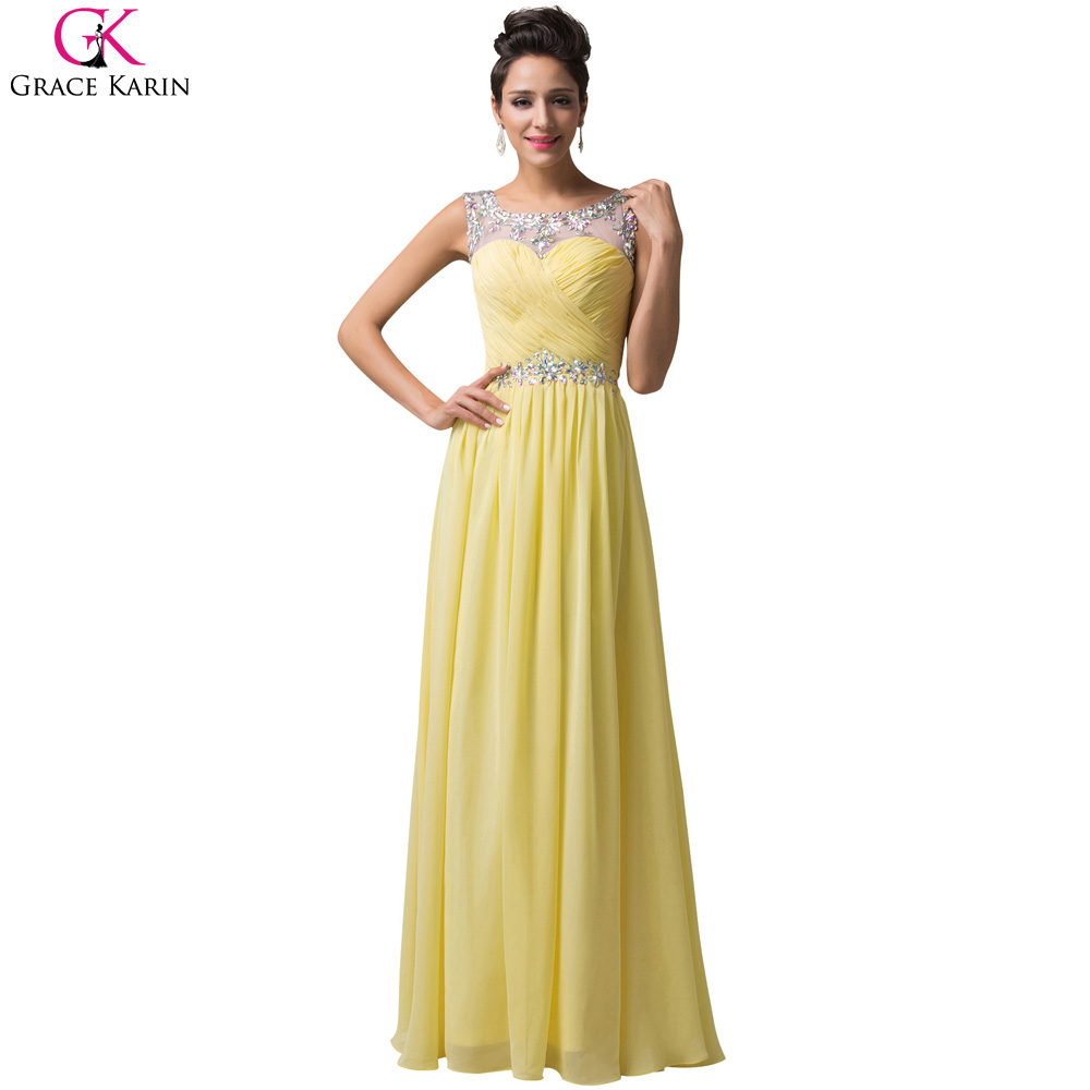 buy yellow bridesmaid dress robe demoiselle d 39 honneur grace karin open back. Black Bedroom Furniture Sets. Home Design Ideas