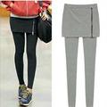 Women Leggings Fashion Skirt Leggings Stretch False 2 Pieces legging Pencil Pants Casual Wear Women Zipper