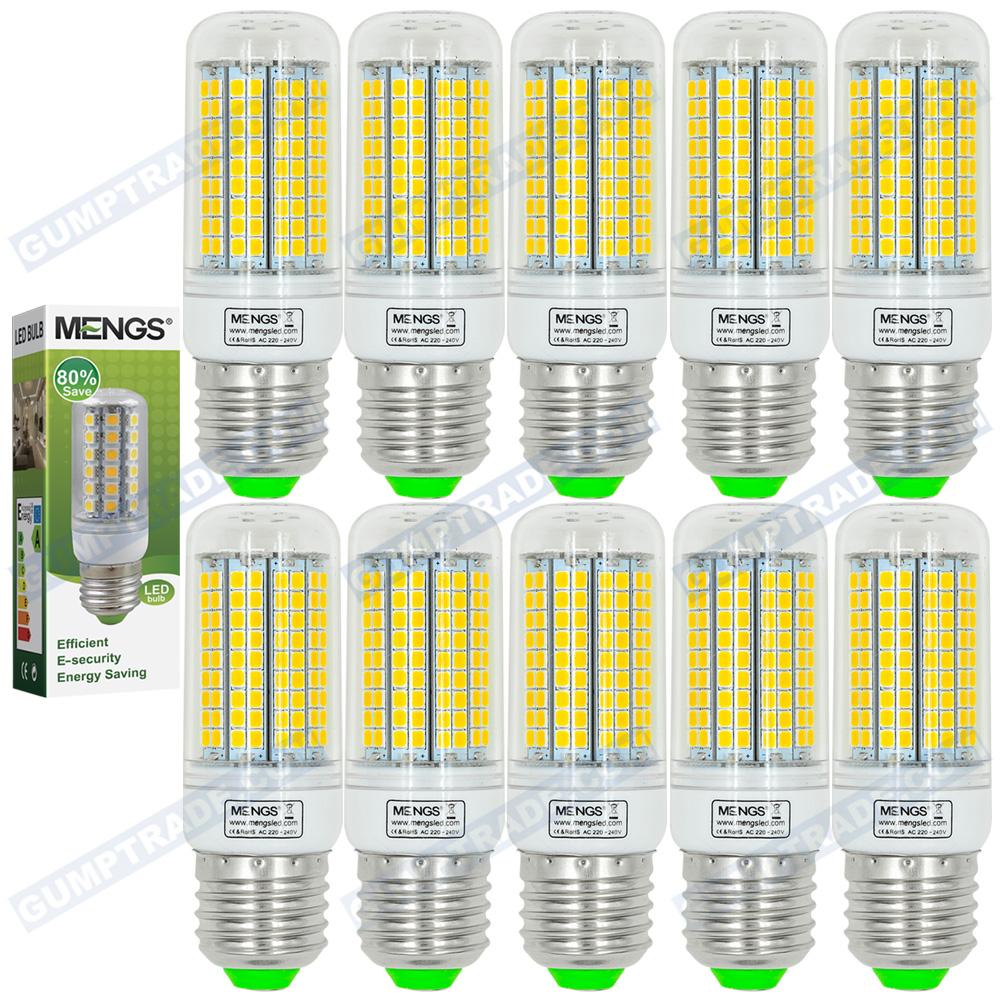 MENGS 10Pcs per pack E27 15W LED Corn Light 180x 2835 SMD LED Lamp Bulb in Warm White / Cool White Energy-saving Lamp<br><br>Aliexpress