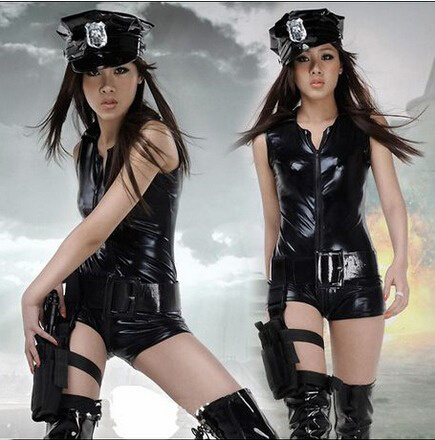 2015 Free Shipping Sexy Female Police Cosplay Clothing police uniform nightclub leading dancer clothing(China (Mainland))