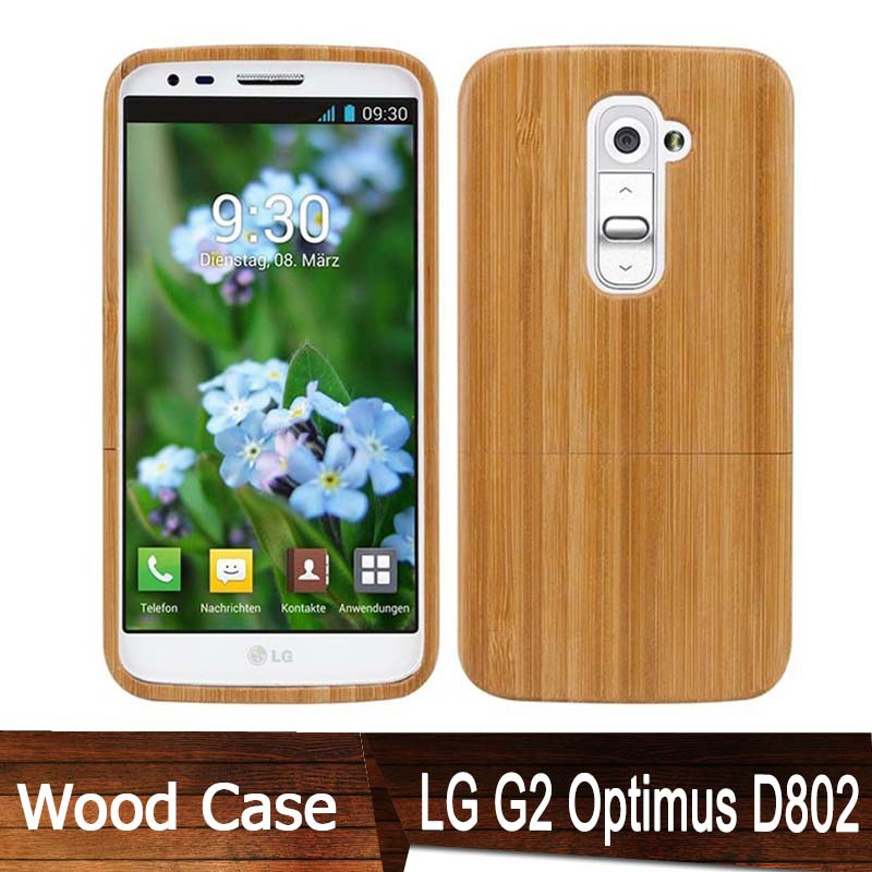 Newest! Phone Natural wood Cases Capa Celular LG G2 Case Optimus D802 Funda Genuine Bamboo Cover Luxury Wooden Back Covers - Kingdom store