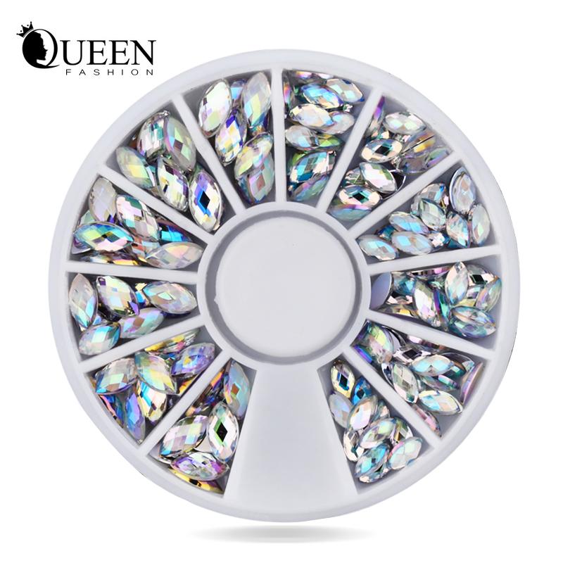 New Crystal AB Nail Art Rhinestones,2 sizes Fashion Glitter Nail Beads Craft,Beauty Manicure Nail Decorations