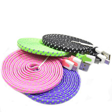 1M/2M/3M Colorful USB Data Sync Charger Cable Micro USB Data Sync Charger Cable Cord Wire For iPhone 5 5s 6 6Plus(China (Mainland))