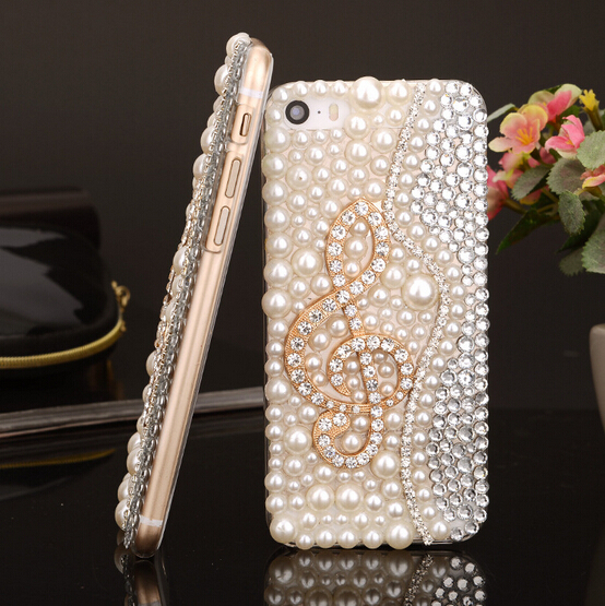 FreeShipping!Customize Latest Item PC Case for Sony Xperia Z1 Z2 Z3/Z L36h Pearls Rhinestone Skins Cover for Sony Xperia T2 T3(China (Mainland))