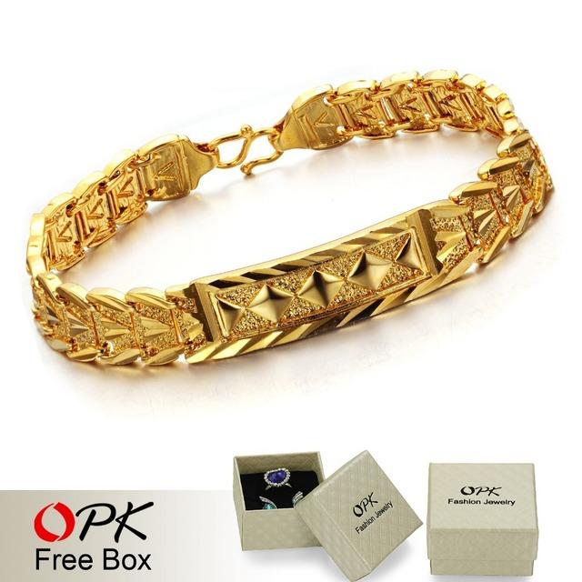 OPK JEWELLERY  Hot Fashion Jewelry FREE SHIPPING HIGH QUALITY  wedding bracelet 18K Gold plated Bracelet wedding bride372