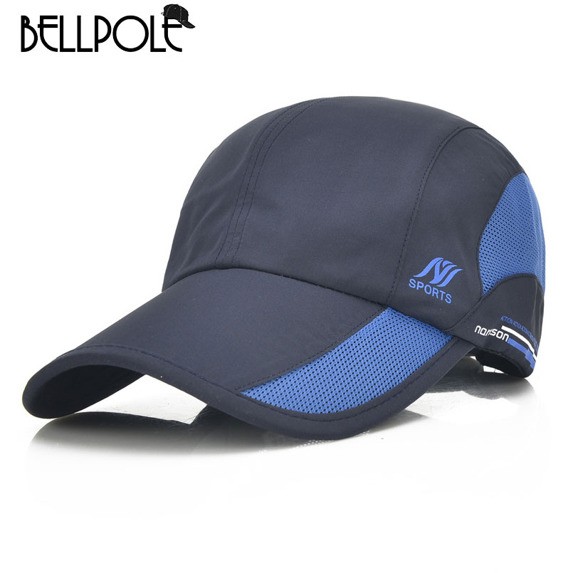 Bellpole 2017 New Quick Dry Baseball Caps for Men Women casual outdoor sports sun hat waterproof cap Unisex adjustable 8 colors(China (Mainland))