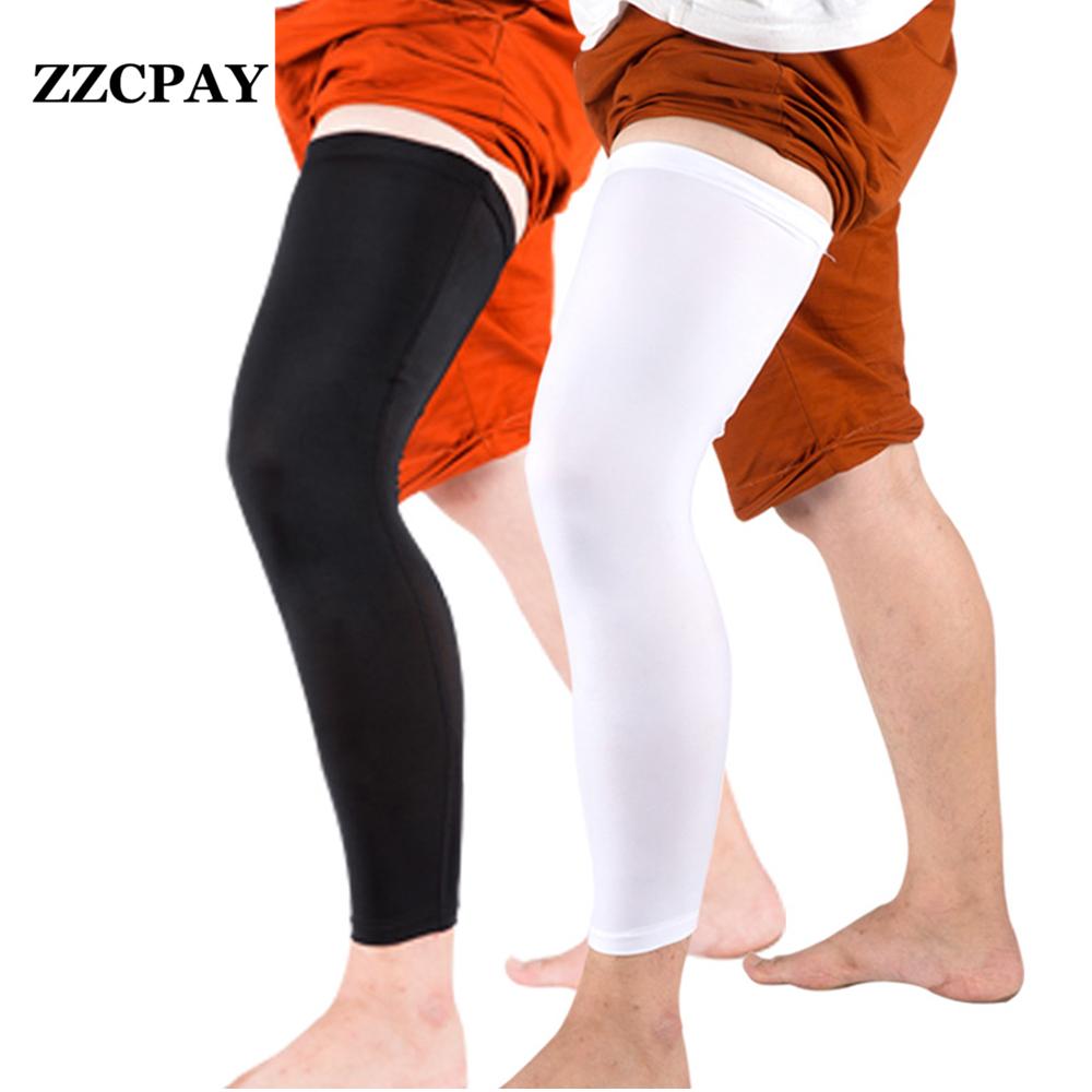 1 Unids de Fútbol Profesional de Baloncesto Leggings Resbalón Respirable Medias Deportivas de Manga Larga Pantorrilla Pad protector de la rodilla de esquí(China (Mainland))