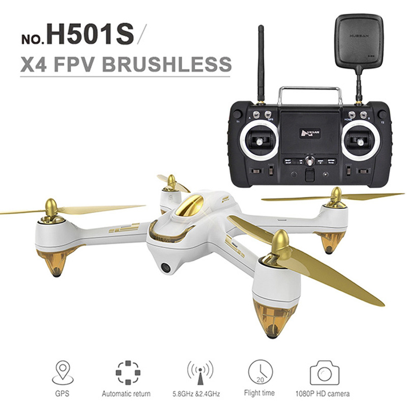 New Hubsan H501S RC Drone X4 5.8G FPV 10CH 6 Axis Gyro 2.4GHz Brushless Quadcopter with 1080P HD Camera GPS-Advanced Version