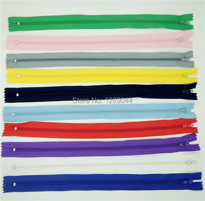 Гаджет  100 pcs 30cm Mix Color Nylon Coil Zippers Tailor Sewing Tools Garment Accessories 12 Inch None Дом и Сад