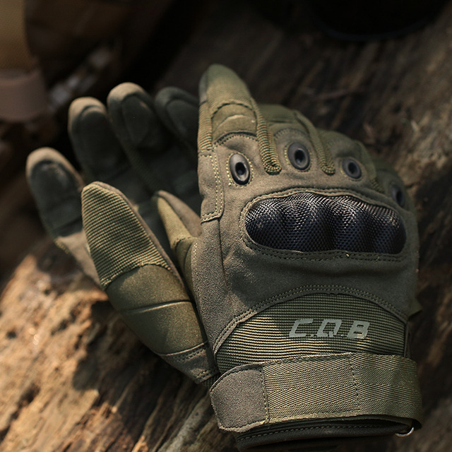 CQB Outdoor Tactical Gloves Full Finger Sports Hiking Riding Cycling Military Men's Gloves Armor Protection Shell Gloves
