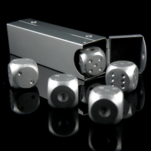 5 IN 1 SET Business gift Aluminum Case Aluminum drink portable tube dice(China (Mainland))