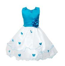 3-9 Years Costume Kids Flower Girl Dresses Sleeveless Solid Dress For Baby Girl Summer Wear Deguisement Princesse