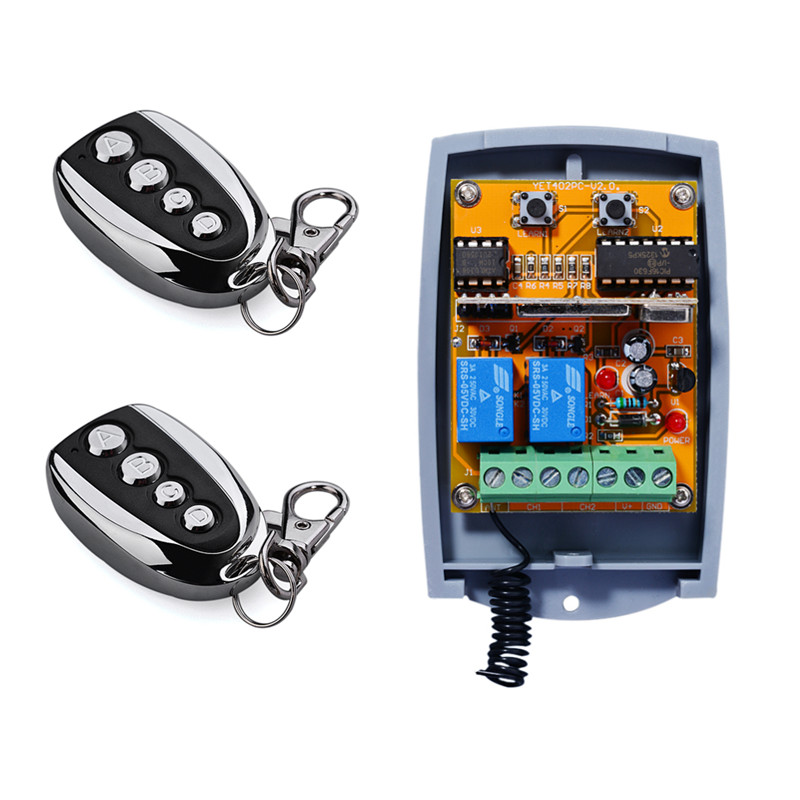 433mhz Learning Code 2 Channel Remote Control Transmitter And Receiver<br><br>Aliexpress