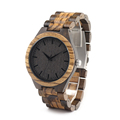 BOBO BIRD D30 Men s Walnut and Ebony Wooden Watch with All Wood Strap Quartz Analog