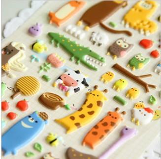 NEW 3D cartoon animal stickers, DIY stickers, good quality sticker, Wholesale (SS-6926)<br><br>Aliexpress