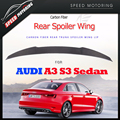A3 S3 Carbon Fiber Rear Wing Spoiler for Audi A3 S3 8V Sedan 2014 2015 2016