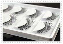 False eyelashes Professional nature long fake eye lashes nude makeup eyelashes extensions 5 pairs per pack W12(China (Mainland))