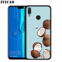 IYICAO フルーツのココナッツで青空ビーチ砂 Huawei 社の Y9 Y7 Y6 プライム 2019 名誉 20 8C 8 × 8 9 9 × 10 Lite 7C 7X 7A プロ(China)