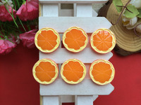 Free Shipping!flatback resin orange simulation of food cabochons for DIY phone case decoration 50PCS/lot