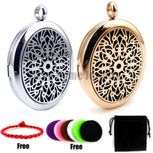 Buy With silver chain gift (27*33mm) High Polish Aromatherapy / Essential Oils Magnet Stainless Steel Diffuser Locket with Pads for $5.39 in AliExpress store