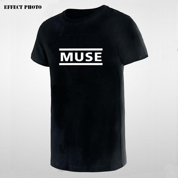UK British Rock N Roll Music Band Muse Logo Printed Tshirt Black Print T-Shirt Men European & American Apparel for Music Lovers(China (Mainland))