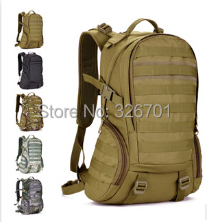 Camping bags,Waterproof Molle Backpack Military 3P Gym School Trekking Ripstop Woodland Tactical Gear for men 35L Drop Shipping(China (Mainland))