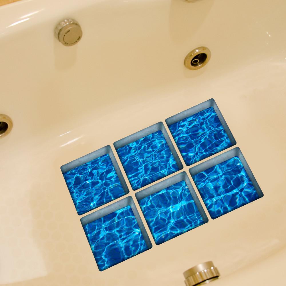New Qualified 6pcs 13x13cm Fruit Pattern 3D Anti Slip Waterproof Bathtub Sticker Muti-choose bathroom stickers drop ship sale(China (Mainland))
