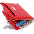 New Small Designer Slim Women Red Wallet Thin Zipper Ladies PU Leather Coin Purses Female Purse