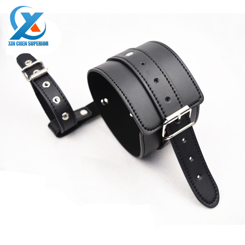 Adult Sex Game Product ankle Locking toes Cuffs Leather Bondage Restraint Belt Fetish Harness Strong Bound Sexy Toy for Couples(China (Mainland))
