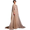 Lebanon Robe De Soiree Longue Prom Beads Saudi Arabia Evening Dresses Long 2016 Sleeved Abaya Dubai
