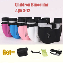 2016 Promotional Gifts Zoom And Focusing 8X21 Children Binocular 10 Colors Boy Telescope With Free Gift(China (Mainland))