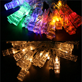 2 3M 20 LED Photo Clip String Lights Battery Operated LED String Light Fairy Lights Christmas