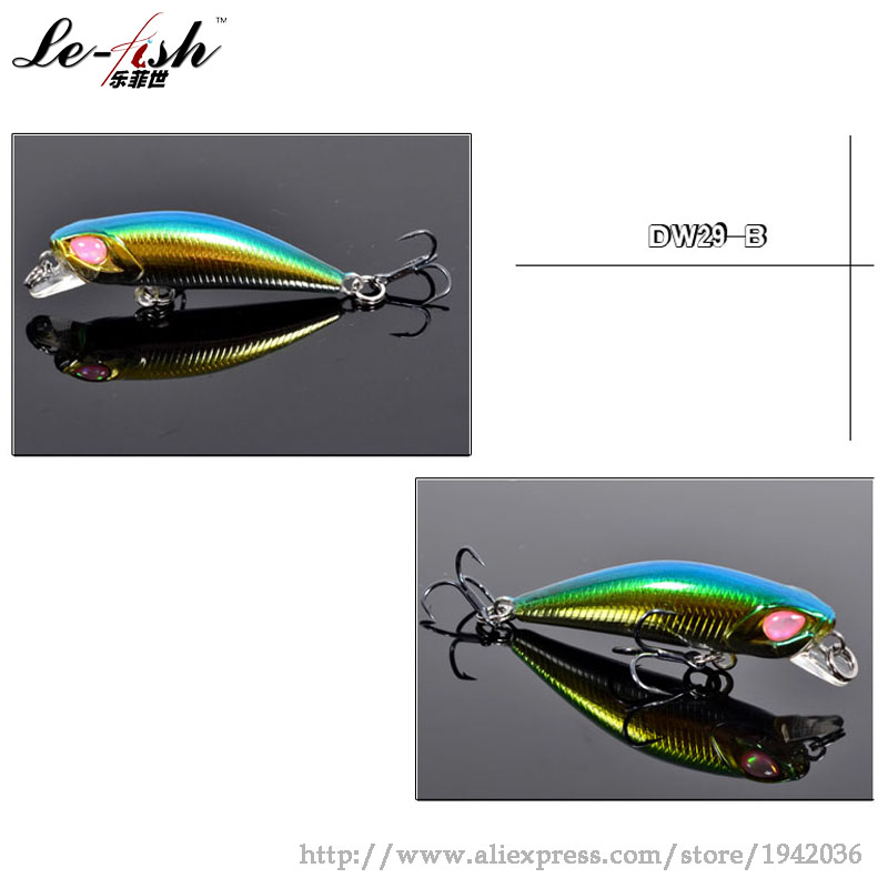 Free Shipping Minnow Artificial Bait Fishing Lure Hard Plastic Fake 42mm/2.8g 0.3-0.6m Deep Wholesale Bait Fishing Lure Hot Sale<br><br>Aliexpress