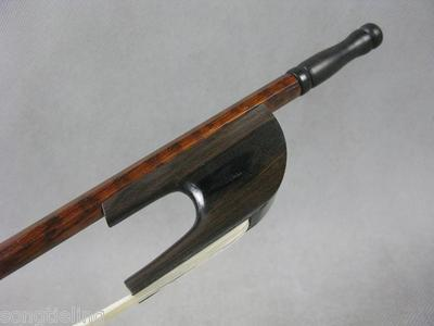 Strong,Balance,baroque snakewood bass bow,top level white bow hair