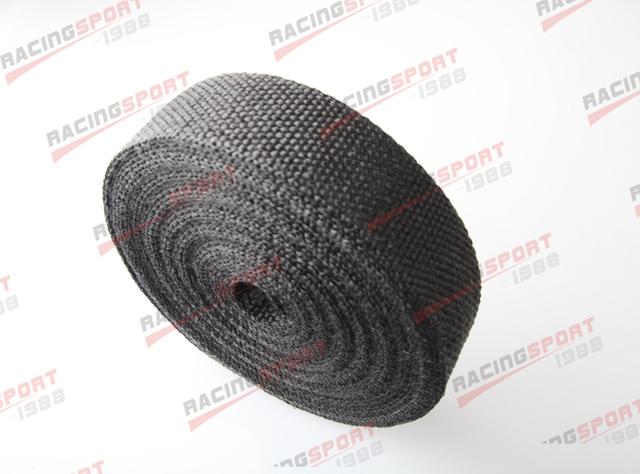 Black 2''x2mm 50FT universal glass fibre exhaust heat wrap