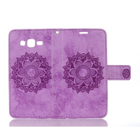 Datura Flower Wallet Flip Cover For Samsung Galaxy Core Prime G360 Capa PU Leather Case Magnetic Holder Stand Phone Bags Cases