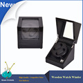 Orginal Black Highlight Wooden Watch Winder 5 Modes rotation Quite Motor Automatic Watch Winders