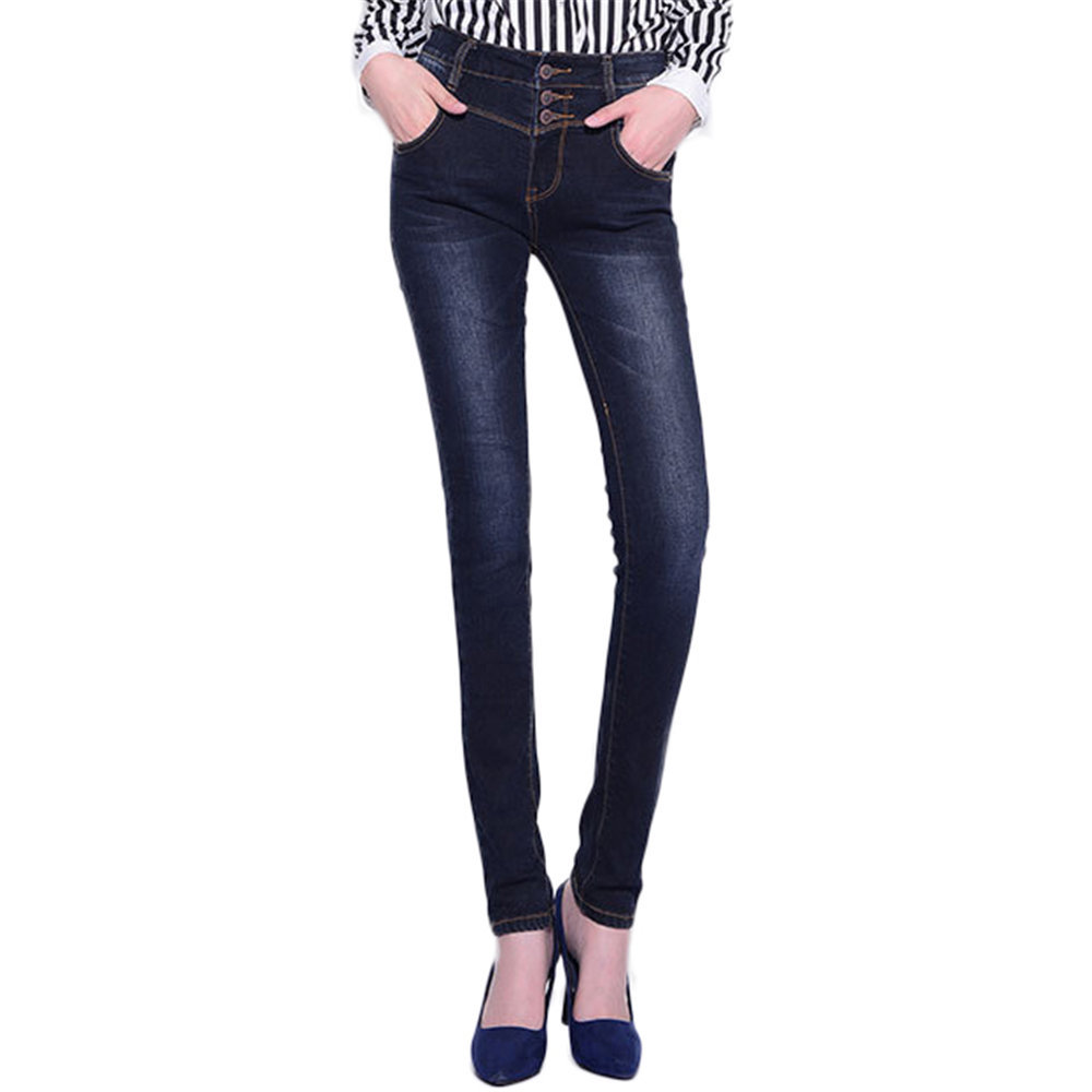 High waisted long skinny jeans – Global fashion jeans collection
