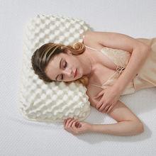 57X37cm Thailand natural latex pillow 100% latex pillow health massage pillow elderly massage particles KM001(China (Mainland))
